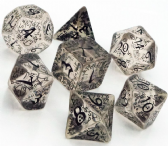 Transparent & Black Elven Dice Set